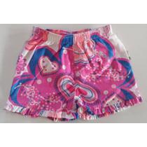 Shorts Puc Bebê Feminino Tamanhos 1 2 3 Anos