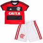 Kit Baby Adidas Original Uniforme Flamengo Infantil