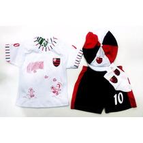 Conjunto Do Flamengo P/ Bebê C/ 4 Peças