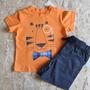 Conjunto Camiseta E Short Bebê - 12 Meses