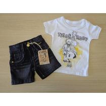 Conjunto Tigor T Tigre Baby Camiseta E Bermuda Jeans
