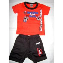 Conj Infantil Bebê Bermuda E Camiseta Club Brandili Tam P
