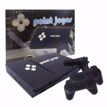 Video Game Polystation 2 + Jogos, 2 Controles E 1 Pistola