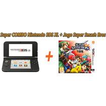 Nintendo 3ds Xl +jogo Smash Bros Frete Barato