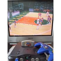 Nintendo 64 Com Fonte Cabo A/v Controle E Jogo N64