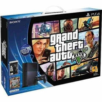 Bundle Ps4 500gb C/ Gta 5 + /5000 De Bonus The Last Of Us