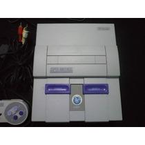 Super Nintendo Americano Branquinho 2 Controles Jogos