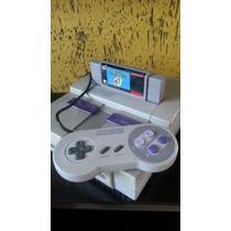 Super Nintendo Original + 1 Controle E Super Mario World