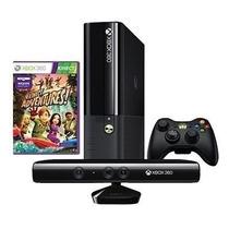 Xbox 360 S. Slim 4gb Desb. Ltu+ Kinect+10 Jogos+ Jogue Live
