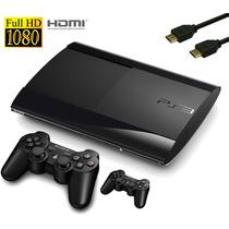 Playstation 3 250gb Super Slim+ 2 Dual Shock 3+ 1 Cabo Hdmi