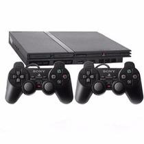 Playstation 2 Ps2 Destravado+2 Controles+memory Card+2 Jogos
