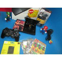 Ps2 Slim+5jogos+memore Card1+brinde Game Original Sony