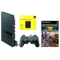 Ps2 Playstation 2 Slim Destravado + Memory + Jogo Original