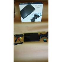 Playstation 2 Slim 2 Controles Cabos E 10 Jogos