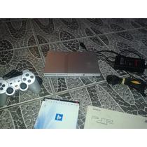 Playstation 2 Prata Destravado Com 1 Controle