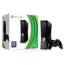 Xbox 360 Slim 4gb Semi Novo 1 Controle 10 Jogos Ac Trocas.