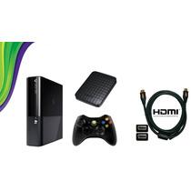 Xbox 360 S. Slim 4gb Jtag + Hd 200 Jogos + Roda Dvd E Hd