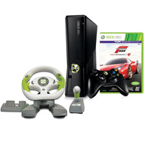 Novo Xbox 360 Slim + 2 Jogos + Kinect + Volante