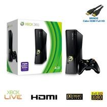 Xbox 360 Slim 250gb Wi-fi Pronta Entrega Microsoft