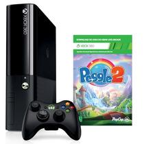 Console Microsoft Xbox 360 4gb Jogo Peggle 2 Nf Garantia 12m