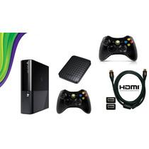 Xbox360 S. Slim 4gb Jtag+ Hd 200 Jogos+2 Controles+freestyle