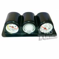 Kit Suporte + Vacuometro Hallmeter Voltimetro Cronomac