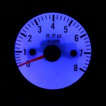 Contagiro Rpm 52mm Carro Auto Led Azul Tachometer