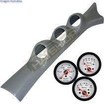 Kit Coluna Gol Parati Quadrado + 3 Manômetro Willtec Tuning