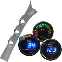 Kit Coluna Digital Hallmeter Voltimetro Temper Água Led Az +