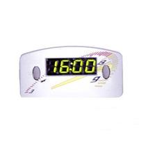 Relógio Horas Digital Carro Painel 12v Cinza Led Verde