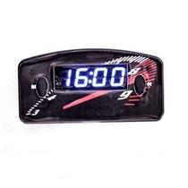 Relógio Digital Horas Painel Carro 12v Led Azul