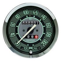 Velocímetro 100mm Verde Fusca Com Sinaleira 2 Hod Cronomac