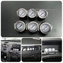 Mini Relógio Suspensão A Ar- Manômetro - Pressão Do Ar .