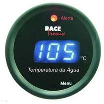 Medidor Temperatura Água Azul Black Digital Relogio 52mm