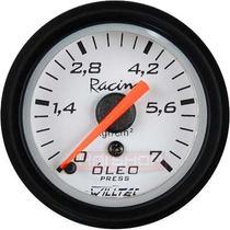 Pressão Óleo Willtec 52mm Manômetro 7kg Motor Marcador Bomba