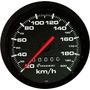 Velocímetro 100mm 200km Street Preto Gol Parati Led Cronomac