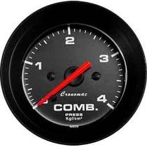 Manômetro Pressão Combustivel 4kg Street Preto Led Cronomac