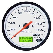 Velocímetro Eletronico Street Branco 100mm Fusca Cronomac