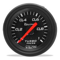 Relógio Pressão Turbo Manômetro Willtec Preto 1kg 52mm