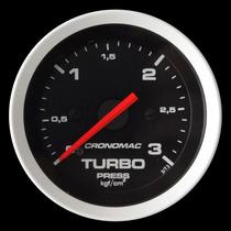 Pressão Turbo 3 Kg Cronomac Sport 52mm Manômetro Turbina
