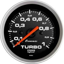 Pressão Turbo Cronomac Sport 52mm Manômetro Turbina Tuning