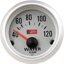Auto Gauge Temperatura De Agua Eletrico 52mm Silver Series