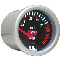 Auto Gauge Pressão Oleo C/ Sensor Eletrico 52mm Smoke Series