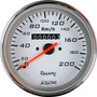Velocímetro C/ Hodômetro 85mm Wtop Branco Fusca Buggy + Led