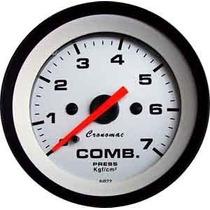 Manômetro Pressão Combustivel 7kg Street Branco Led Cronomac