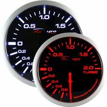 Manometro Pressão Turbo Smoke 52mm Elétrico Depo Racing