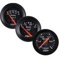 Kit 3 Manômetros Willtec Plus Preto 52 C/ Neon Tuning Vw Gm