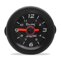 Relógio Horas Manômetro Elétrico Preto Willtec 52mm P/ Carro