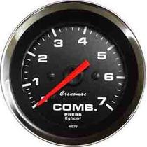 Manômetro Pressão Combustivel 7kg Croma Preto Led Cronomac
