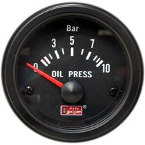 Auto Gauge Pressão Oleo C/ Sensor 10 Bar 52mm Black Series